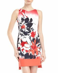 Floral-Print Dress by Tahari at Neiman Marcus Last Call.