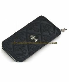 Chrome Hearts Wallet REC F Zip Cross Cemetery Black