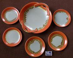 alte große Schale Obstschale + 5 Teller Mettlach Villeroy & Boch Art Déco 30er in Antiquitäten & Kunst, Porzellan & Keramik, Keramik   eBay