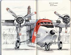 My wife's grandfather flew a USAF Grumman Albatross on rescue missions in Korea. I've grown to love these old birds. Nice sketch by Phil McDonel.