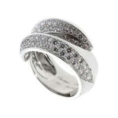 Cartier Panthere Pave Diamond Ring in White Gold