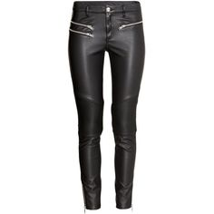 H&M Biker trousers ($47) ❤ liked on Polyvore featuring pants, black, h&m trousers, h&m pants and h&m