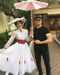 He included the caption: 'She's Mary Poppins y'all... just kidding... #ImMaryPoppinsYall'
