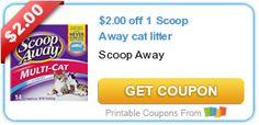 $2.00 off 1 Scoop Away #cat litter #coupon