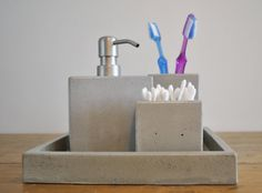 Concrete Bath Set by fmcdesign on Etsy, $99.00