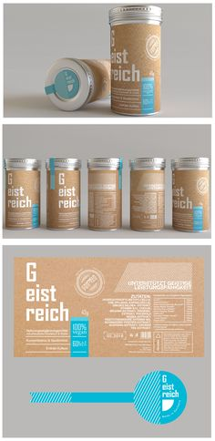 Minimalist packaging design for a germany company.
