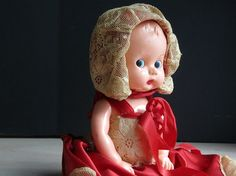 Vintage Ideal Boopsie Doll / Hard Plastic / Red by OwlInAnIvyBush