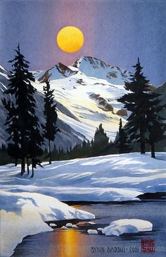Byron Birdsall - an Alaskan artist.   One of these found its way to Ohio, too!!
