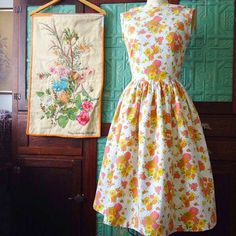 WAS $160 NOW $90Made with crisp, unused vintage cottons and featuring a butter yellow back bodice.Made with love and ready-to-ship.The original Free Folk dress...designed to inspire barefoot walks through grassy fields, filling pockets with posies or threading a daisy chain.A dress to inspire feeling free in life; it will have you smiling and feeling beautiful inside and out!The Free Folk features an elegant fitted bodice with bateau neckline, a gently gathered k...