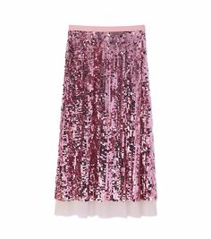 A dazzling way to channel our collection's island theme, the Cove Skirt shimmers with overlapping metallic paillettes, inspired by exotic bird feathers. The embellishment adds texture and dimens