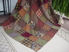 Handmade Realtree Camo Patchwork Flannel Rag Quilt Rustic Lodge Hunt Twin/XL Lap