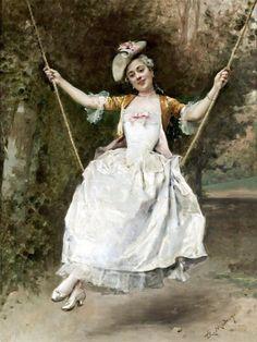 The Athenaeum - Girl on a Swing (Raimundo de Madrazo y Garreta - No dates listed)