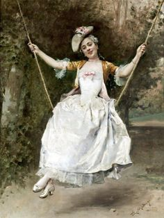 The Athenaeum - Girl on a Swing (Raimundo de Madrazo y Garreta - No dates listed)
