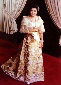Elegant Filipiniana Dress