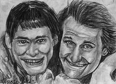 ACEO DUMB&DUMBER JIM CARREY JEFF DANIELS ORIGINAL Sketch Card by MIRACLE