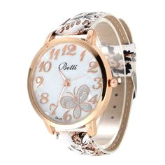 Fashion Butterfly Watch Ladies Watch Leather Flowers Women Watches montre  femme relogios feminino bayan saat-in Women s Watches from Watches on ... 841de7231ea
