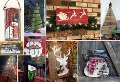E κτός για την κατασκευή ξύλινων χριστουγεννιάτικων δέντρων , ξύλα από παλέτες ή απλές παλιές σανίδες μπορείτε να χρησιμοποιήσε...