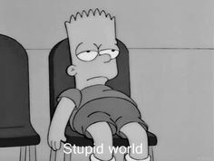 Shared by The Simpsons. Find images and videos about black and white, sad and mood on We Heart It - the app to get lost in what you love. Simpson Wallpaper Iphone, Sad Wallpaper, Cartoon Wallpaper, Iphone Wallpaper, Cartoon Cartoon, Sad Pictures, Reaction Pictures, Lisa Simpsons, The Simpsons Tumblr