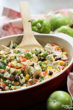 Southwestern Tomatillo Tofu Scramble @FoodBlogs