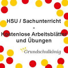 Kostenlose Arbeitsblätter und Übungen für den Sachunterricht / HSU an der Grundschule