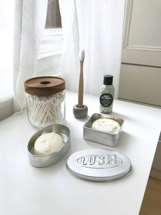 "sustainable-studies: ""My first few minimal effort zero waste bathroom swaps - A bamboo toothbrush - Biodegradable cotton buds in a refillable jar - Shampoo and conditioner bars in reusable tins -..."