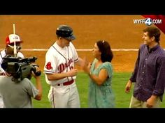 [VIDEO] U.S. Airman Surprises His Mother During Baseball Game     An airman just home from Afghanistan gets help from the Greenville Drive baseball team to give his mom the surprise of her life!