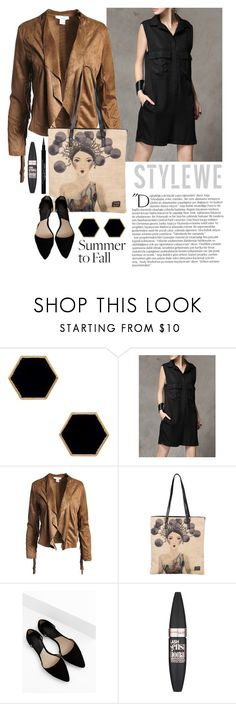 """""""OOTD - Black Romper In Fall"""" by by-jwp ❤ liked on Polyvore featuring Janna Conner Designs, Sans Souci, MANGO, Balmain, Maybelline and Givenchy"""