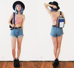 Get this look: http://lb.nu/look/7482894  More looks by Gigi M.: http://lb.nu/daeva101  Items in this look:  Jump From Paper Ollie Bag, Dresslink Tie Back Top, Dresslink Denim Shorts   #casual
