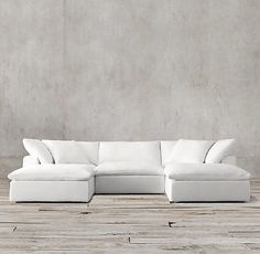 RH's Petite Cloud sofa system prioritizes comfort without losing style. Timothy Oulton's design streamlined the shape while keeping the cushioning, covered in fine Belgian linen, as soft as its namesake; from $850. restorationhardware.com