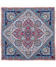 Liberty London Brown Warwick Paisley Silk Twill Scarf | Accessories | Liberty.co.uk
