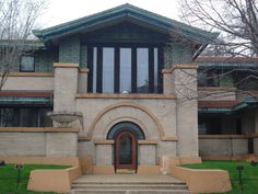 This is the front of the Dana Thomas House, Springfield, IL.  Open to the public.  Coolest house ever.