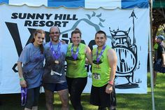 Dr. Adventure (second from left) competing with his team in the 2014 Viking Obstacle Race at Sunny Hill Resort in the Northern Catskills. - September 2014