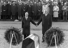Historische Geste: Am 40. Jahrestag der Landung der Westalliierten im Zweiten...