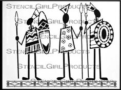 Tribal Men Stencil by Desiree Habicht for StencilGirl Products $14.00
