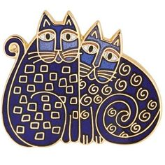 Image Detail for - Laurel Burch Indigo Cats Pin RLB-164G