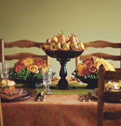 Autumn Tablescape #autumn #table #decor #tablescape #decorations #pears