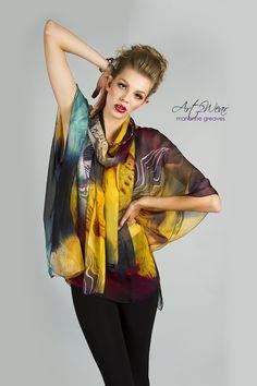 Fantasy Silk Tunic and Scarf  $195.