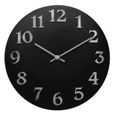 black and silver wall clock