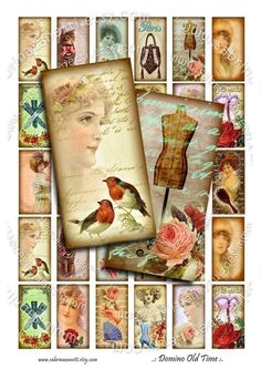 Instant Download  Digital sheet  DOMINO OLD TiME 2x1 door JLeeloo, $3.80