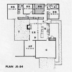 27 Best Eichler Floorplans Images Floor Plans How To