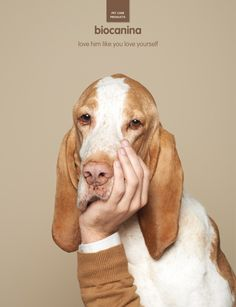 Biocanina: Love him like you love yourself | #ads #marketing #creative #publicité #print #poster #advertising #campaign < repinned by www.BlickeDeeler.de | Have a look on www.Printwerbung-Hamburg.de