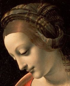 Leonardo da Vinci - Madonna Litta, 1490 (Hermitage Museum, St. Petersburg) - Detail