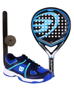 PACK BULLPADEL BLACK DRAGON 2015 Y ZAPATILLAS WILSON NVISION