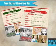 Free Holiday Mini Marketing Template for Photoshop and Elements