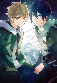 Find images and videos about anime, noragami and yato on We Heart It - the app to get lost in what you love. Anime Noragami, Noragami Bishamon, Manga Anime, Yato And Hiyori, Manga Kawaii, Fanarts Anime, Anime Art, Noragami Cosplay, Haikyuu Anime