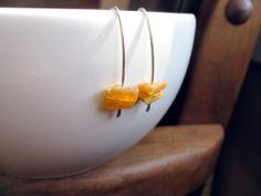 COFFEE MUG PROP- amber jewelry. sterling silver earrings with baltic amber. silver earrings. splurge. on Etsy, $31.00