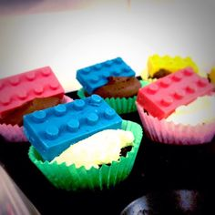 Check out our Lego themed cupcakes. Buy our chocolate Lego blocks here: www.etsy.com/uk/listing/216822650  #legocakes #legofood
