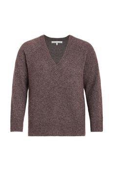 NAKED CASHMERE Poppy Vneck Sweater Size-inclusive designer luxury Plus-size fashion