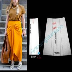 Dress Sewing Patterns, Clothing Patterns, Pattern Sewing, Pattern Cutting, Pattern Drafting, Draped Skirt, Textiles, Panel Dress, Asymmetrical Tops