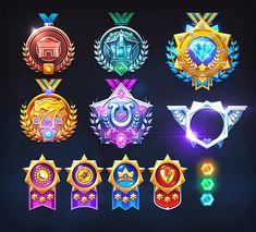 Freelance work i did for Caesars. Game Ui Design, Badge Design, Icon Design, Game Concept, Logo Concept, Badge Icon, 2d Game Art, Logo Gallery, Game Item